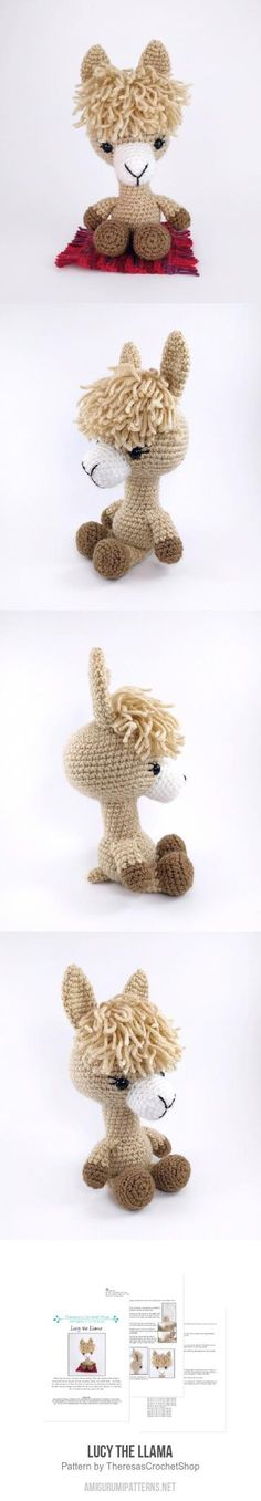 Lucy The Llama Amigurumi Pattern