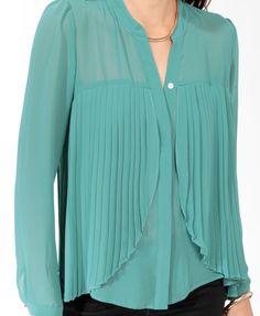 Pleated Flounce Shirt  $22.80