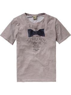 Short-sleeved gentlemen tee - T-shirts - Scotch & Soda Online Shop