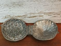 Vintage S & Co Violet Bush Des Cop'd 1893 Pewter Ice Cream Chocolate Mold Chocolate Molds, Wood Blocks, Vintage Industrial, Pewter, Stamping, Decorative Bowls, Ice Cream, Carving, Wedding Rings