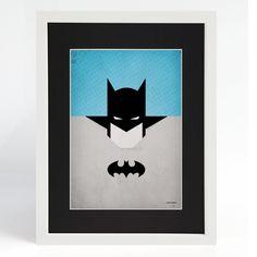 laminas-cuadros-Superhéroes-Batman-marco-blanco-paspartu-negro.jpg (870×870)