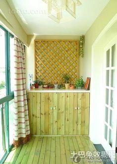 Home improvement interior design effect picture of balcony 2016