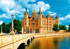 Puzzle Trefl Palacio de Schwerin, Alemania de 1000 Piezas