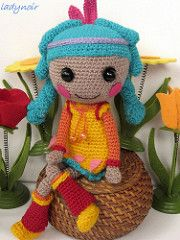 Little Feather (ladynoir63) Tags: doll indian crochet feather amigurumi crocheted lalaloopsy