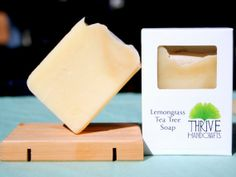 Awesome! ~ Lemongrass & Tea Tree Handmade Vegan Soap by ThriveHandcrafts on Etsy