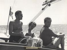 Giovanni and Marella Agnelli and Benno Graziani, 1957