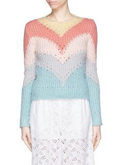 Pastel chevron rainbow sweater #sweater #cloudy #covetme #valentino