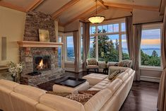 Another great view and stone fireplace
