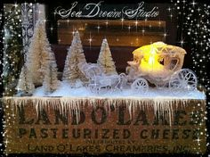 A wee carriage passes by on a cold  December night. ♥Sea Dream Studio♥
