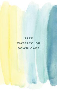 Free watercolour desktop downloads   designlovefest