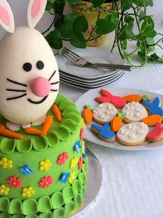 Easter cake & cookies, Pastel y galletas de Pascua