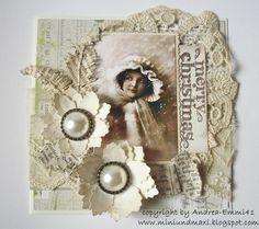 Vintage Christmas Card - Scrapbook.com Christmas Card Pictures, Create Christmas Cards, Beautiful Christmas Cards, Vintage Christmas Cards, Christmas Tag, Xmas Cards, Vintage Cards, Handmade Christmas, Vintage Scrapbook