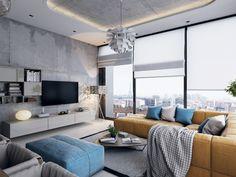 Modern Livingroom on Behance Interior Rendering, Living Room Modern, Home Decor Furniture, Conference Room, Table, Behance, Living Room, Tables, Desk