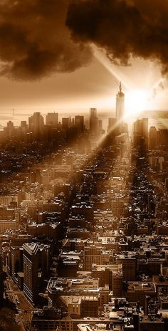 New York rising by Justyna (Earth if all is covered)