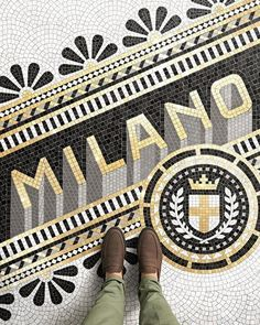 the #spirit of one of the most #beautiful cities on the planet - Milano #mosaique by @nickmisani #handmadefont