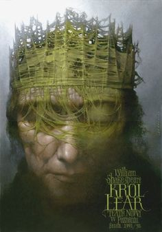 King Lear designer: Walkuski Wieslaw category: theater poster author: Shakespeare William year: 1992