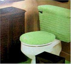 Fuzzy toilet seat & tank covers