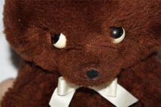 "Vintage Happiness Aid is a Well Made Toy Brown Teddy Bear 9"" 1970s Retro Plush"