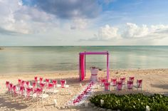 wedding in pink by the beach