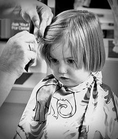 How to cut kid's hair... a simple step by step for boy's and girl's hair.