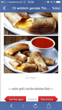 Grilled cheese rolls Recipe My boyfriend and I make these all the time now! They seriously taste better than normal grilled cheese Grill Cheese Roll Ups, Cheese Roll Recipe, Milk Recipes, Cooking Recipes, Cooking Hacks, Grilled Cheese Rolls, Fried Cheese, Queso Fundido, Cheese Rolling
