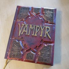 Vampire Book (big book) Dracula, My Husband Birthday, Vampire Books, Red Books, Blank Page, Tomoe, Book Nooks, Fantasy World, The Hobbit