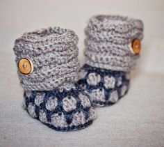 'Crocheting : Honeycomb Boots (crochet pattern) $4.99
