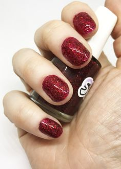 Ruby Slippers // Red Holo // Indie Nail Polish by SugarLacquerShop
