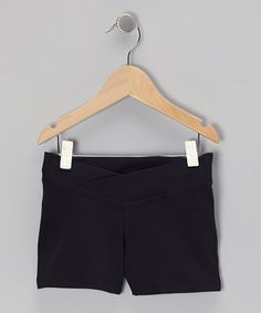 Take a look at this Black Dance Shorts - Toddler & Girls by Ballerina Girl on #zulily today!