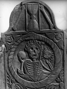 New England gravestone/memento mori.