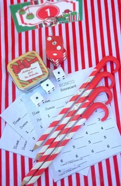 Bird's Party Blog: A Holiday Bunco Party!