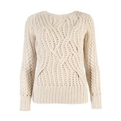 Ted Baker RUSSIE - Cable hand knitted jumper ($235) ❤ liked on Polyvore