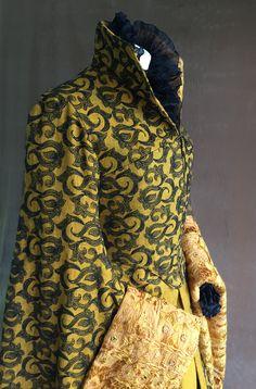 Tudor Costumes, Shirt Dress, Tudor Era, Wood Elf, Jeans Denim, Silk Organza, Collar And Cuff, Black Silk, Cotton Dresses