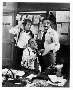 Barney Miller .... Max Gail, Abe Vigoda and Hal Linden in Barney Miller.......I loved this show so much!!!