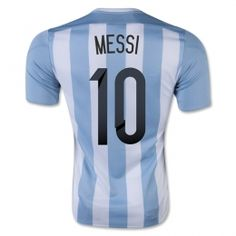 Argentina National team 2015 Home Messi #10 Soccer Jersey [A906]