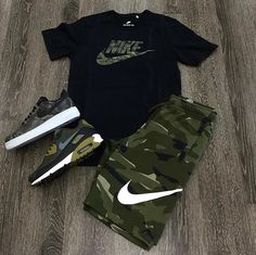 Fashion & Styling #Nike #Camo #Camouflage Dope Outfits For Guys, Swag Outfits Men, Stylish Mens Outfits, Tomboy Outfits, Tomboy Fashion, Sneakers Fashion, Casual Outfits, Fashion Outfits, Nike Outfits For Men