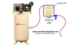A cheap and effective way of removing water from your air compressor lines. To learn more: http://www.powdercoatguide.com/2014/06/how-to-dry-compressed.html#.U6YAHOV6HrQ