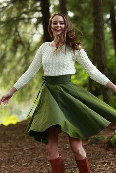 Celeste Skirt Green