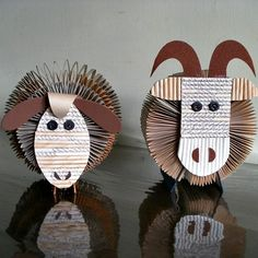 Sheep and Mutton Folded Book Sculptures by Clara Maffei