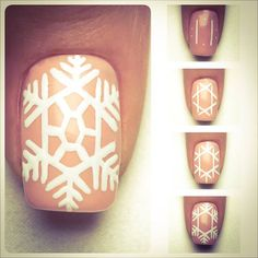 Amazing Nail Design - Snowflake Find more Inspiration at www.indigo-nails.com #Nail #Christmas #Art