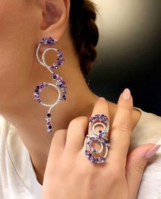 Body Jewelry, Jewelry Sets, Jewelry Rings, Unique Jewelry, Jewelery, Fine Jewelry, Purple Jewelry, Cocktail Rings, Single Ladies
