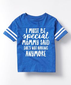 Look at this #zulilyfind! Royal Blue 'I Must Be Special' Football Tee - Toddler & Kids #zulilyfinds
