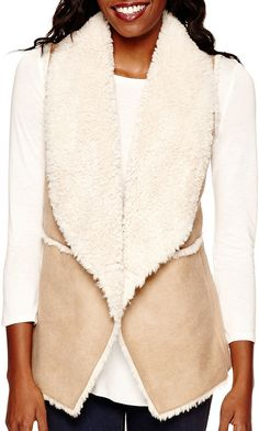 BY AND BY by&by Faux-Shearling Vest