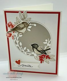 Tarjetas Stampin Up, Step Cards, Stampinup, Bird Theme, Bird On Branch, Bird Cards, Stamping Up Cards, Get Well Cards, Pretty Cards