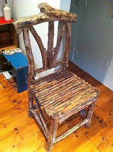 Wooden stick chair | eBay