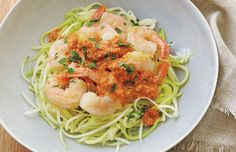 Whole 30 Recipes: Zoodles with Shrimp