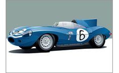 Sleek vintage race car designs by Arthur Schening @ Schening Creative #jaguarDType