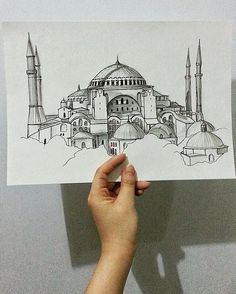 archisketcher Hagia Sophia by Kim mcmaster. desenho archisketcher Hagia Sophia by Kim mcmaster. Watercolor Architecture, Architecture Drawings, Hagia Sophia, Sainte Sophie, Wallpaper Nature Flowers, Drawing Competition, Small Canvas Paintings, Islamic Paintings, Tinta China