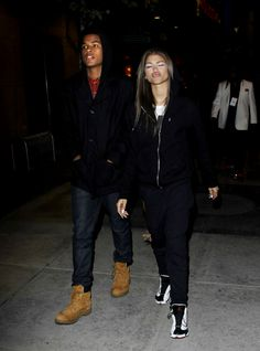 Zendaya & Trevor Jackson out in Los Angeles last night (x) Black Couples, Cute Couples, Zendaya And Boyfriend, Zendaya And Trevor Jackson, Cute Celebrities, Celebs, Zendaya Style, Zendaya Coleman, Fashion Night