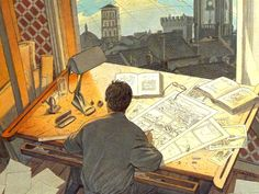 8 mar 12 [Belgian comic book artist François Schuiten] This, to me, is like a scene from The Amazing Kavalier and Clay.